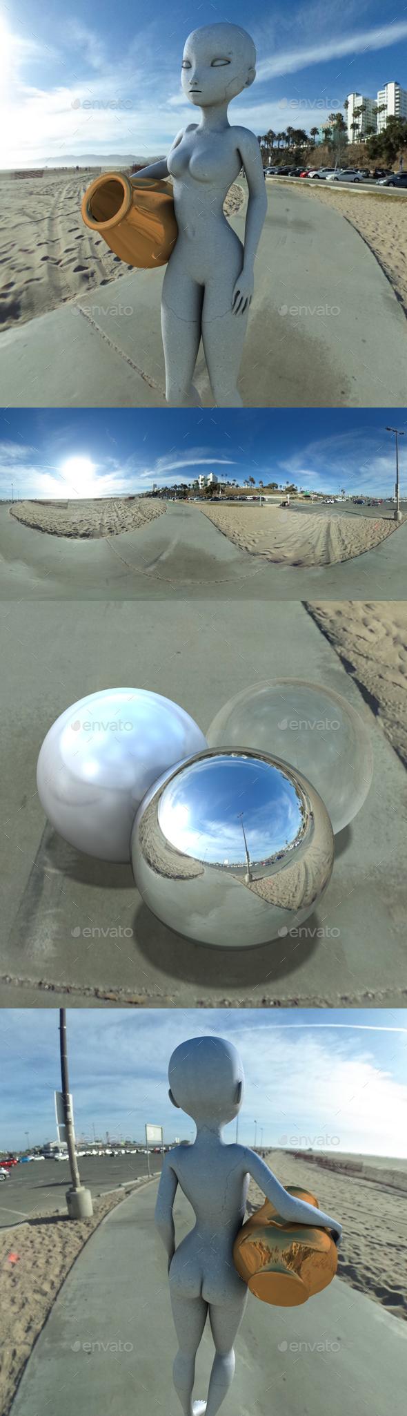 Sunny Beach Car Park HDRI - 3DOcean Item for Sale
