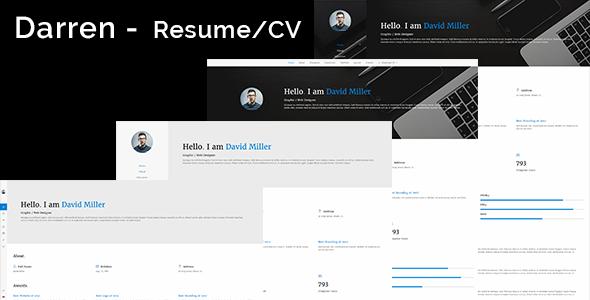 Darren – CV / Resume & vCard Template