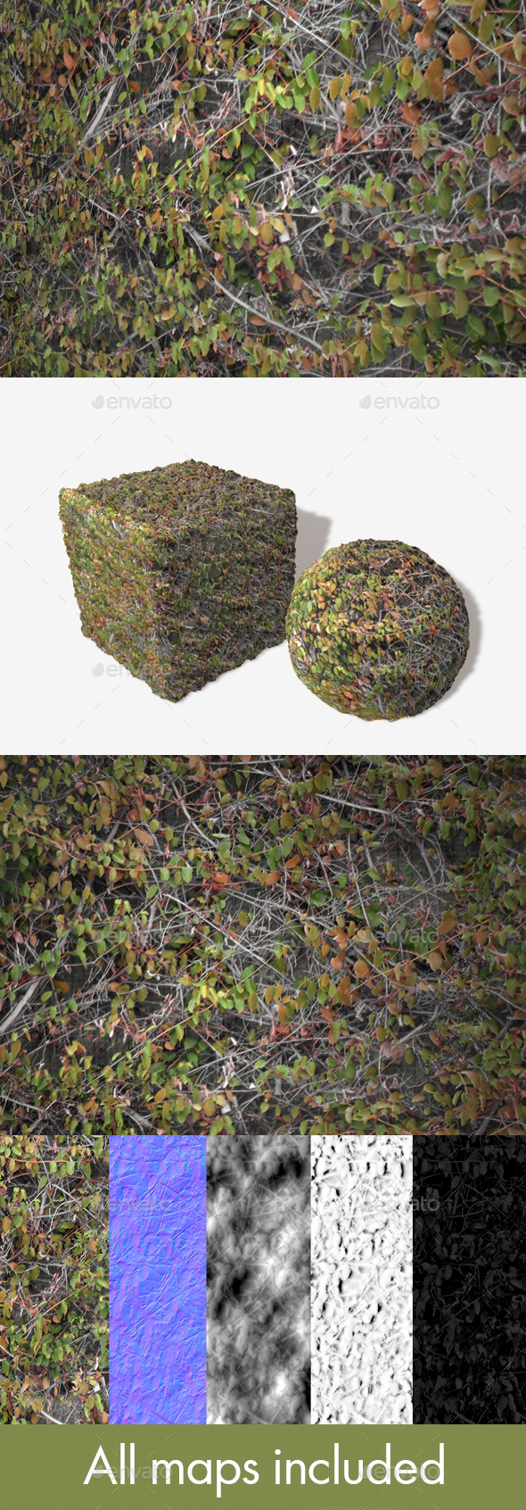 Autumn Wall Climbers Seamless Texture - 3DOcean Item for Sale