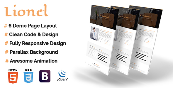 Lionel - Personal Portfolio HTML5 Template - Portfolio Creative