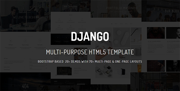 DJANGO – Multi-Purpose Multi-Page & One-Page Parallax HTML Template