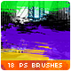 18 Horizontal Paint Trails Photoshop Brushes #3