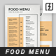 Minimal Food Menu Template - GraphicRiver Item for Sale