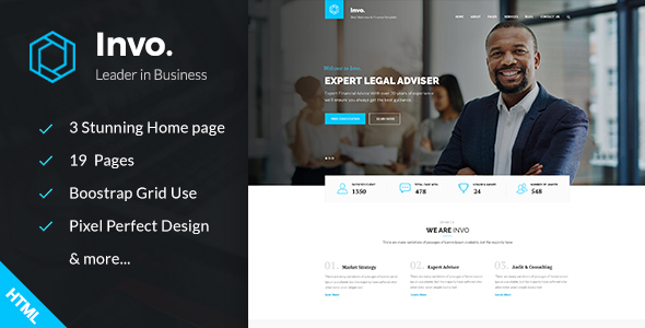 Invo - Business, training & Consulting HTML Template