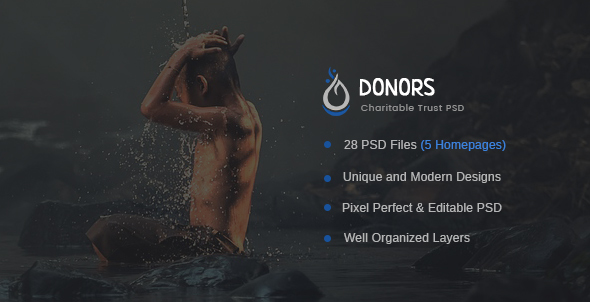 Donors – Multipurpose Non-profit PSD Template