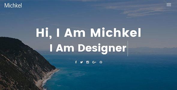 Mickhel – Creative Portfolio Template