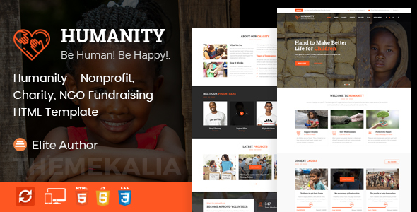 Image of Humanity - Nonprofit, Charity, NGO Fundraising HTML Template