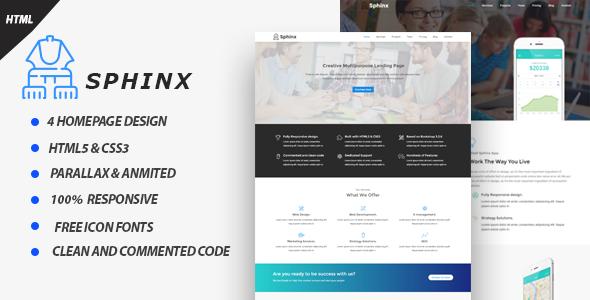 Sphinx – Responsive Multipurpose HTML5 Template