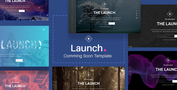 Launch – Coming Soon / Under Construction Template