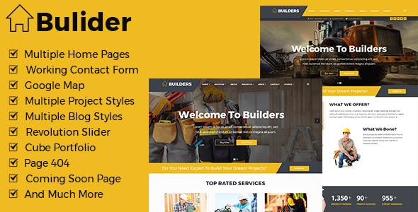 Builder - Construction Renovation Templates - Business Corporate