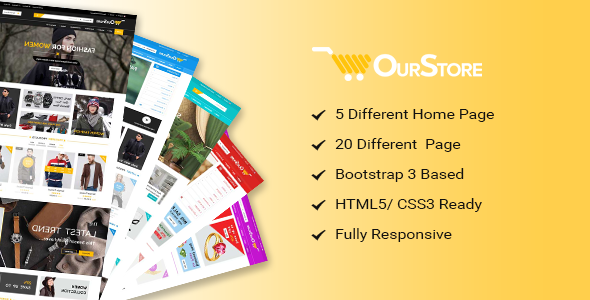 OurStore Multipurpose eCommerce Bootstrap Template