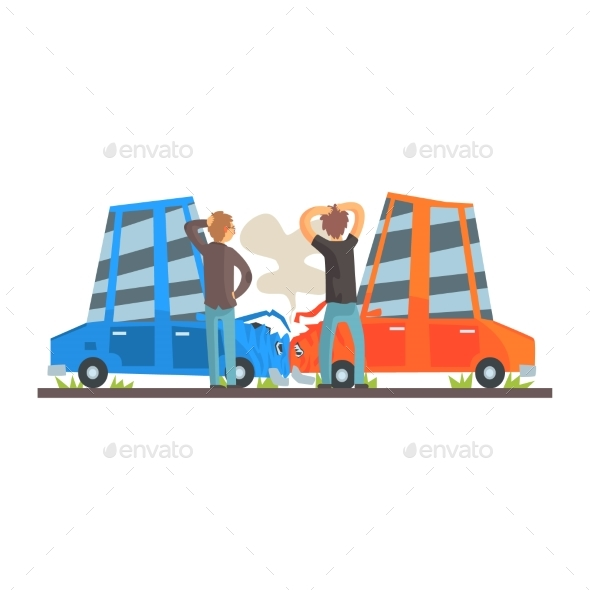 Two People Crashing Their Cars - Man-made Objects Objects