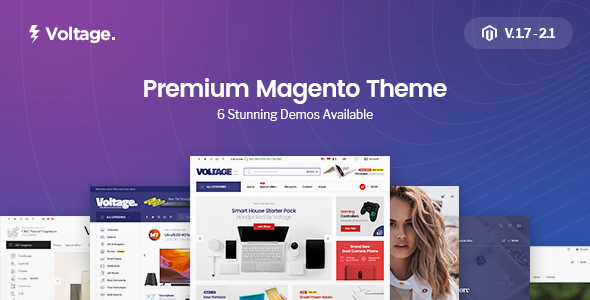 Voltage - Multi-Purpose Responsive Magento 2 and Magento 1 Theme - Magento eCommerce