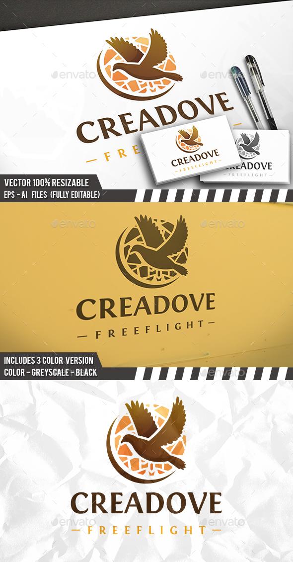 Creative Dove Logo - Animals Logo Templates