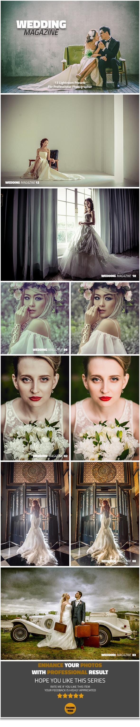 13 Wedding Magazine Lightroom presets - Lightroom Presets Add-ons
