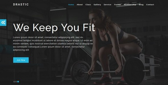 Drastic-Gym & Health Care Html5 Template - Health & Beauty Retail