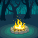 Forest Campfire Poster - GraphicRiver Item for Sale