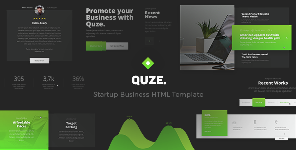QUZE - Startup and Technology HTML Theme