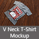 V Neck T Shirt Mockup - GraphicRiver Item for Sale