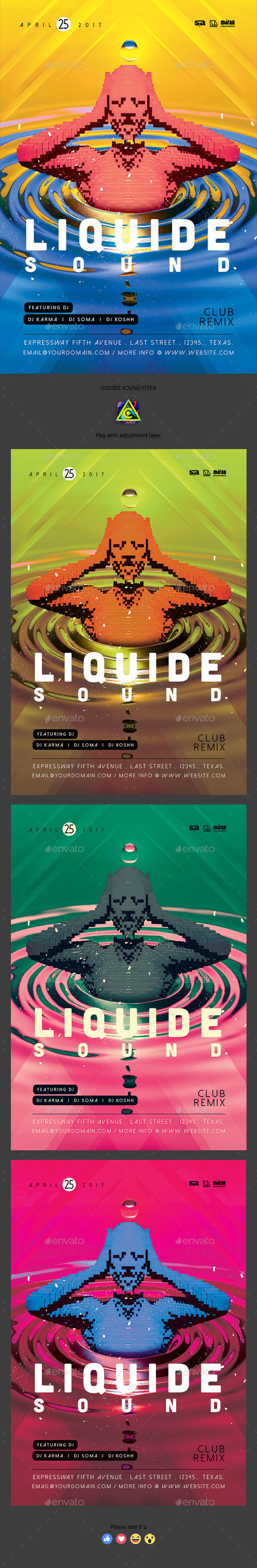 Liquide Sound Flyer - Clubs & Parties Events