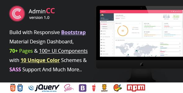 AdminCC – Bootstrap Material Design Premium Admin Dashboard