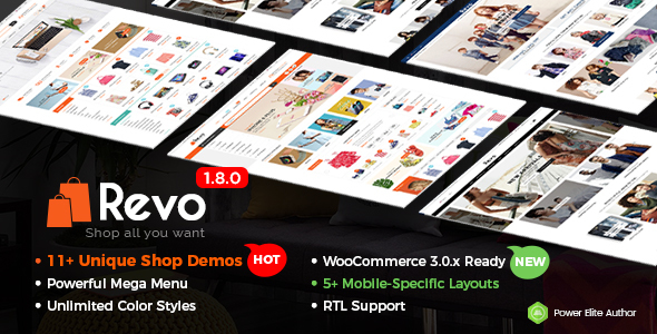 Revo - Universal WooCommerce WordPress Theme with Mobile-Specific Layouts