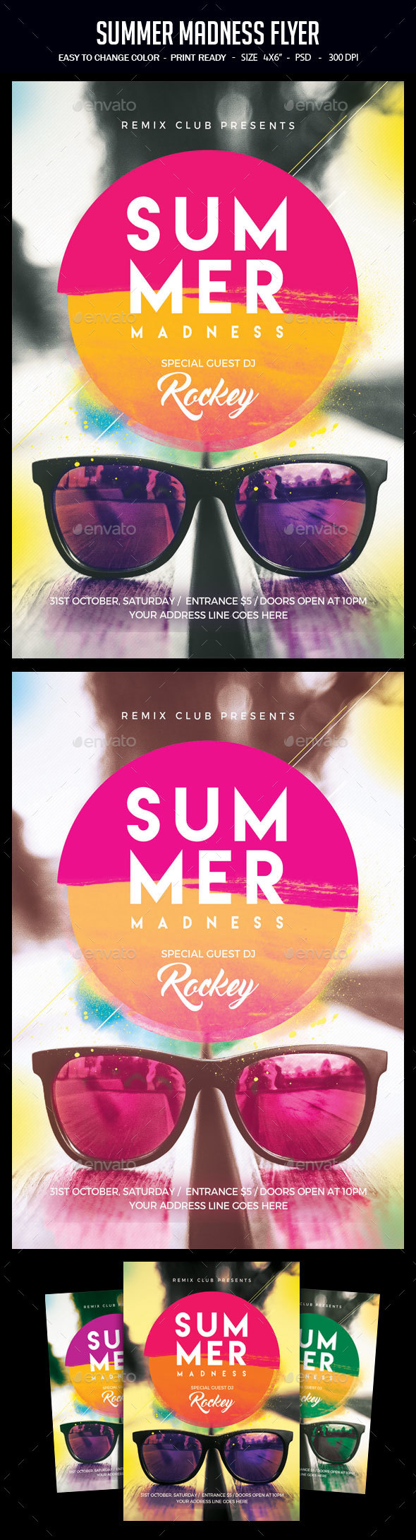 Summer Madness Flyer - Clubs & Parties Events