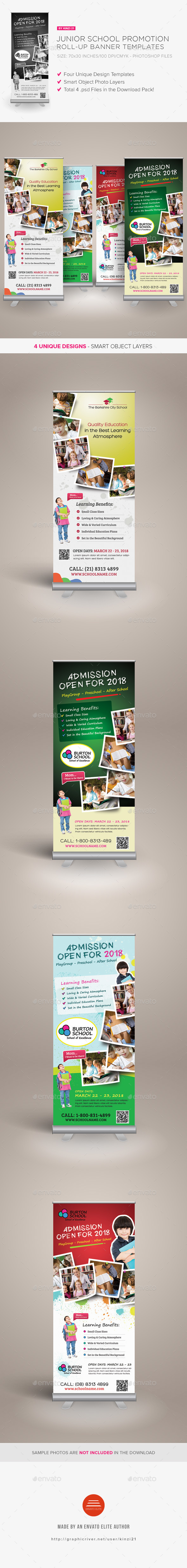 Junior School Promotion Roll-up Banners - Signage Print Templates