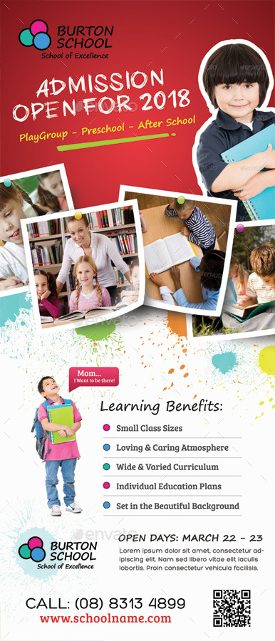 Junior School Promotion Roll Up Banners By Kinzi21 Graphicriver
