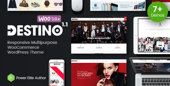Destino – Advanced WooCommerce WordPress Theme with Mobile-Specific Layouts