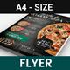 Pizza Burger and Pasta Restaurant Flyer