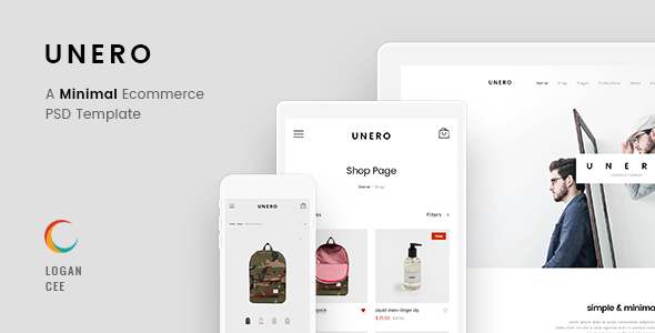 Unero – Minimalist eCommerce PSD Template by LoganCee | ThemeForest
