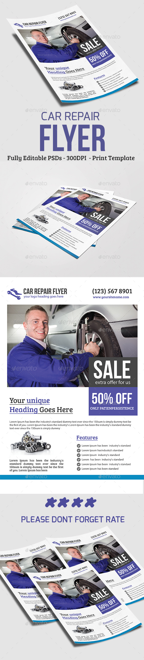 Car Repair Flyer - Flyers Print Templates