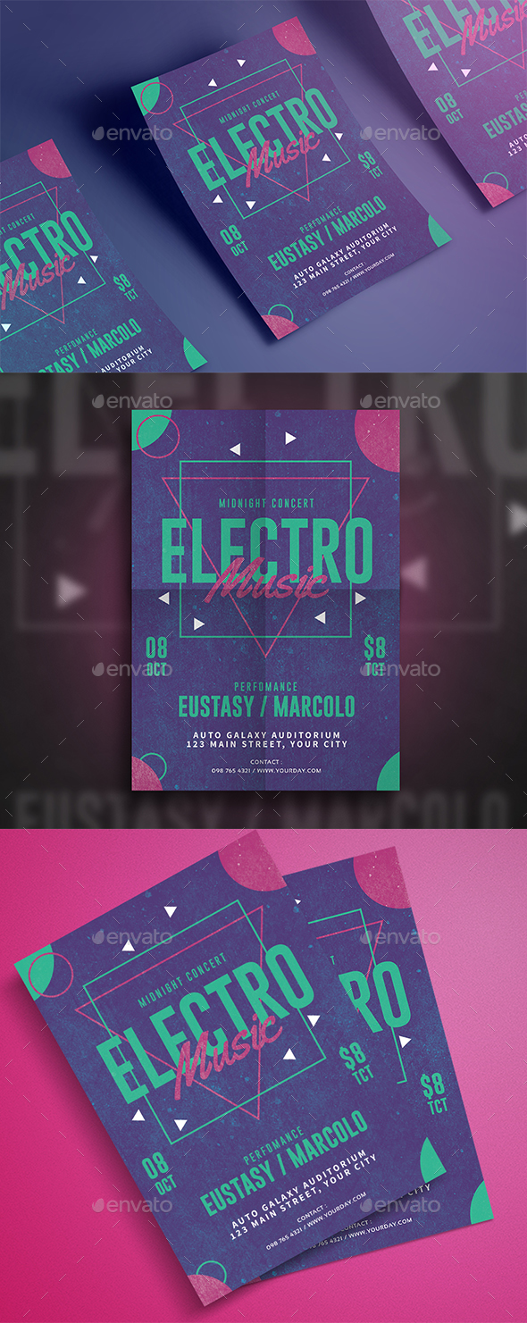 Electro Music Flyer - Events Flyers
