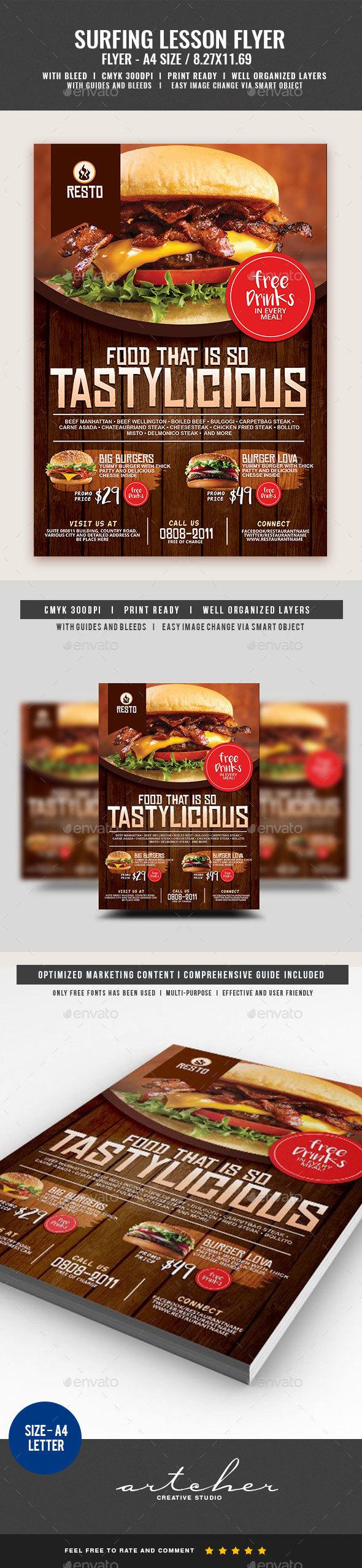 Restaurant Burger House Flyer - Restaurant Flyers