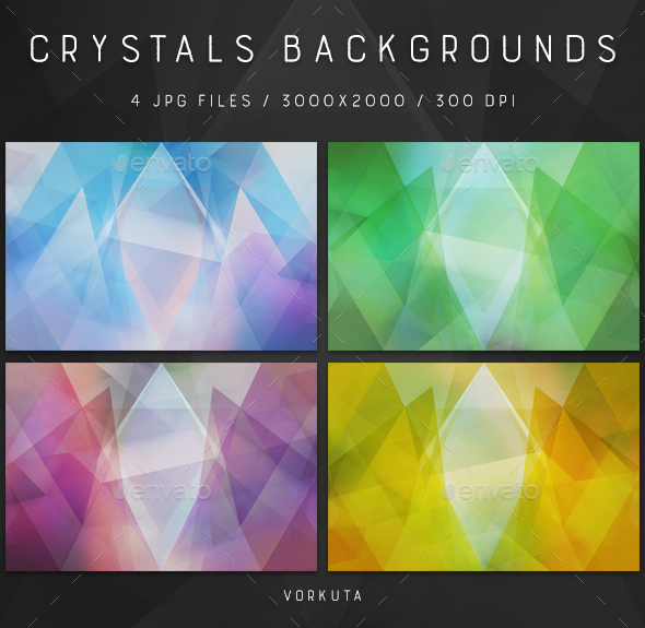 Crystals | Backgrounds - Abstract Backgrounds