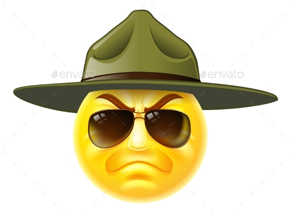 Emoji Emoticon Drill Sergeant - Animals Characters