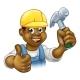 Black Handyman Cartoon Character