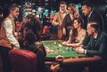 Upper class friends gambling in a casino - PhotoDune Item for Sale