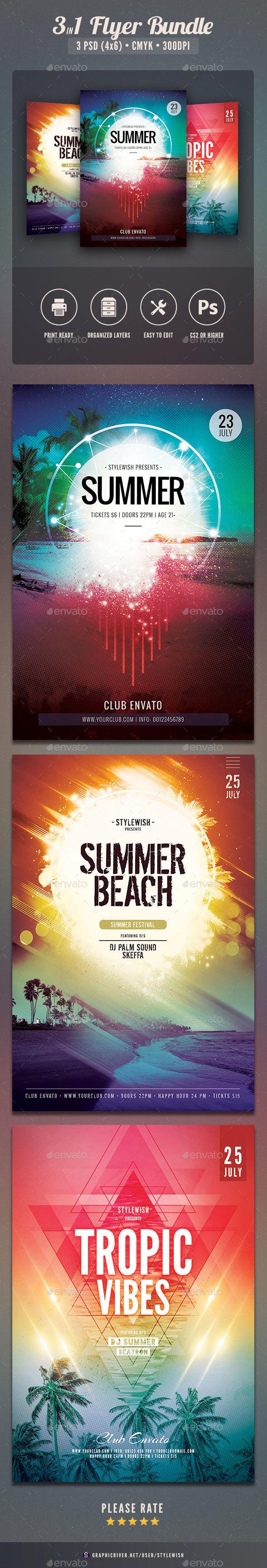 Summer Flyer Bundle Vol.17 - Concerts Events