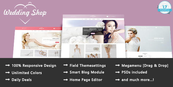 Wedding Paradise - Responsive Prestashop 1.7 Theme