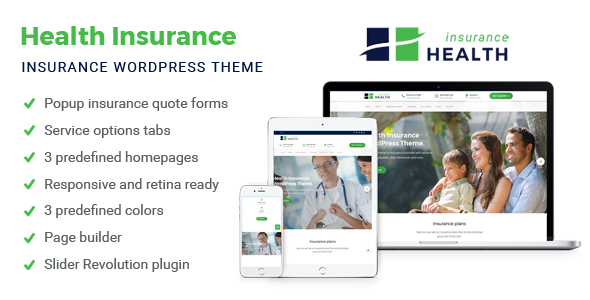 Health Insurance - Insurance WordPress Theme - Business Corporate