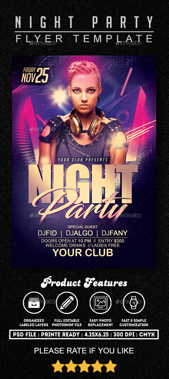 Night Party Flyer 2 - Clubs & Parties Events