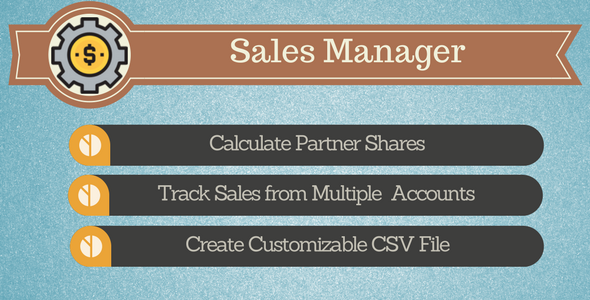 Sales Manager - Track your Sales on Envato - CodeCanyon Item for Sale