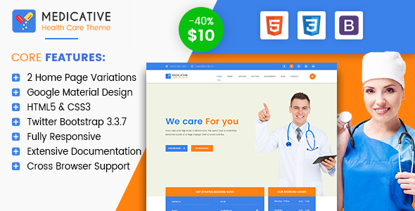 Medicative - Responsive Medical HTML Template - Health & Beauty Retail