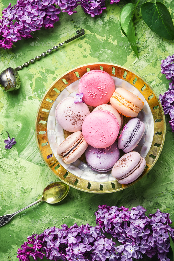 Sweet french macaroons - Stock Photo - Images