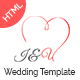 I&U Wedding HTML Template.