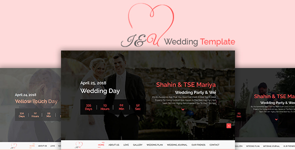 ThemeForest I&U Wedding HTML Template 20018597