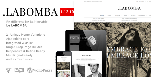 Labomba - Responsive Multipurpose WordPress Theme - WooCommerce eCommerce