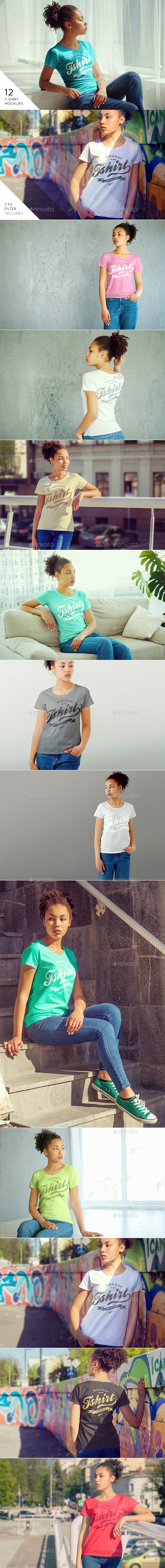 Female T-Shirt Mock-Up v2 - T-shirts Apparel